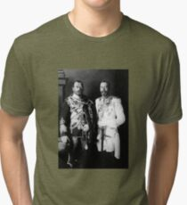 Tsar Nicholas II and King George V - Royal Cousins - 1913 Tri-blend T-Shirt