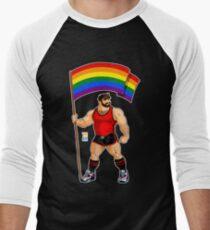 ADAM LIKES PRIDE FLAG - RED OUTFIT Men's Baseball ¾ T-Shirt