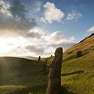 Sunset at Raro Raruku, Easter Island. by Darren Newbery