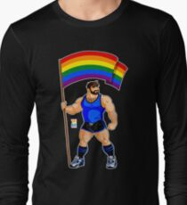ADAM LIKES PRIDE FLAG - BLUE OUTFIT Long Sleeve T-Shirt