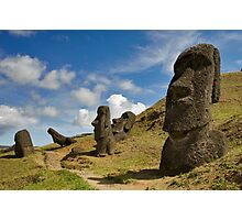 Raro Raruku, Easter Island. Photographic Print