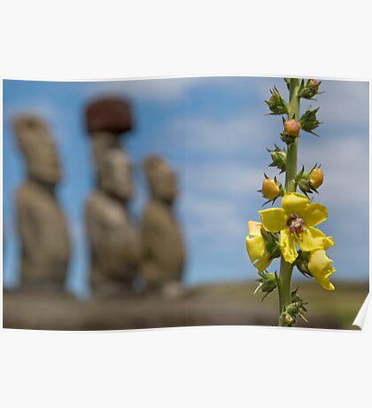 Ahu Tongariki, Easter Island. Poster