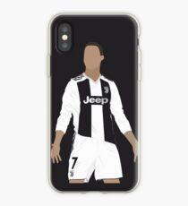 Cristiano Ronaldo at Juventus vector art iPhone Case