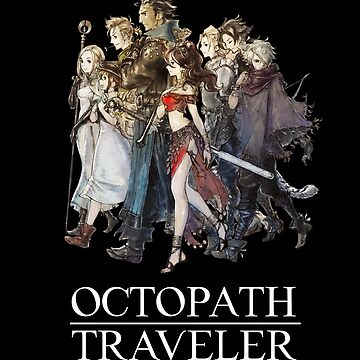 Octopath Traveler® - Travelers & Logo (White) by SWISH-Design