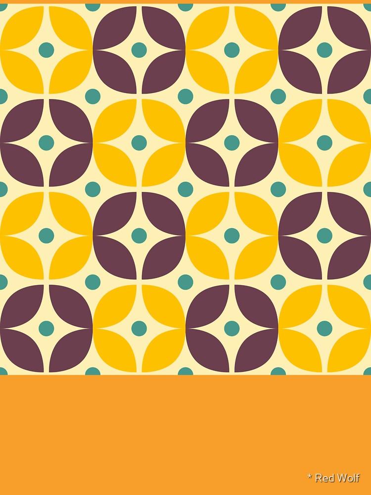 Geometric Pattern: Stylised Flower: Veronica by redwolfoz