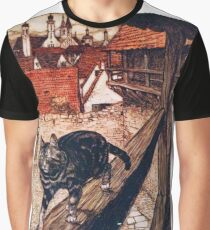The Cat and Mouse in Partnership - The Brothers Grimm Graphic T-Shirt