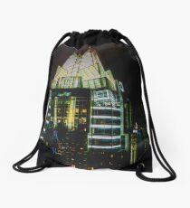 Downtown Austin at Night Drawstring Bag