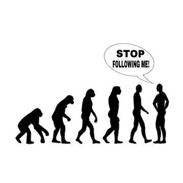 Stop Following Me! Funny Science Teacher Evolution T-shirt  by Free11