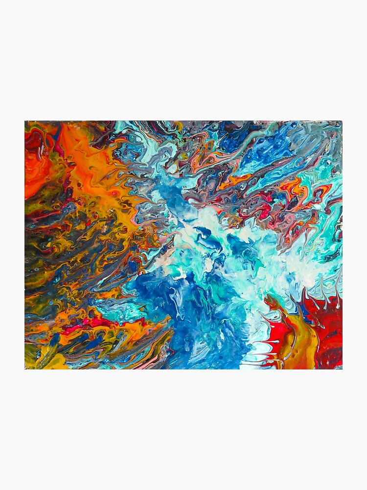 Fire Ice Abstract Painting Photographic Print