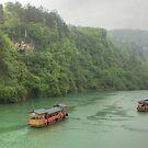 River Boats at Zhangjiajie by Michael Matthews