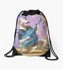 Rockabilly Zebra Drawstring Bag