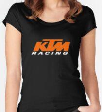 KTM-Rennen Tailliertes Rundhals-Shirt