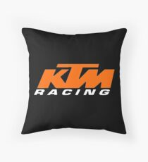 ktm racing Throw Pillow