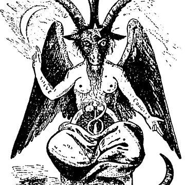Satan Goat drawing by GodsAutopsy