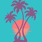 3 Palm Sunset by Wayne Minnis