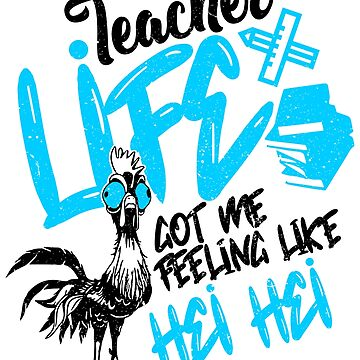 'Teacher Got Me Feelin Like' Charming Teacher Gift by leyogi