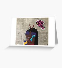 Unbothered. Greeting Card