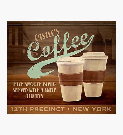 Castle's Coffee Photographic Print