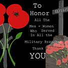 In Honor of All that Served  by jeanlphotos