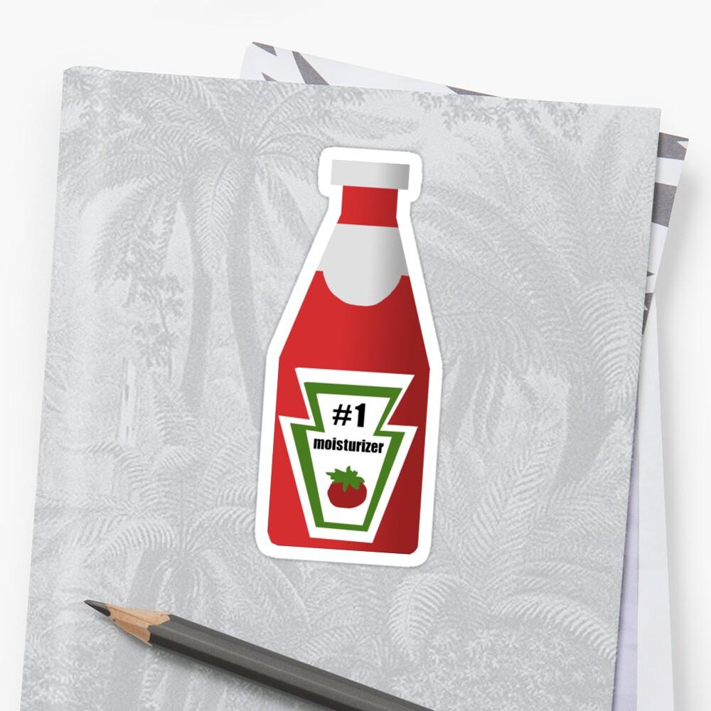 ketchup - crema hidratante - hannah montana Pegatina