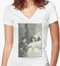 Jane Eyre by Charlotte Bronte original illustration Women's Fitted V-Neck T-Shirt