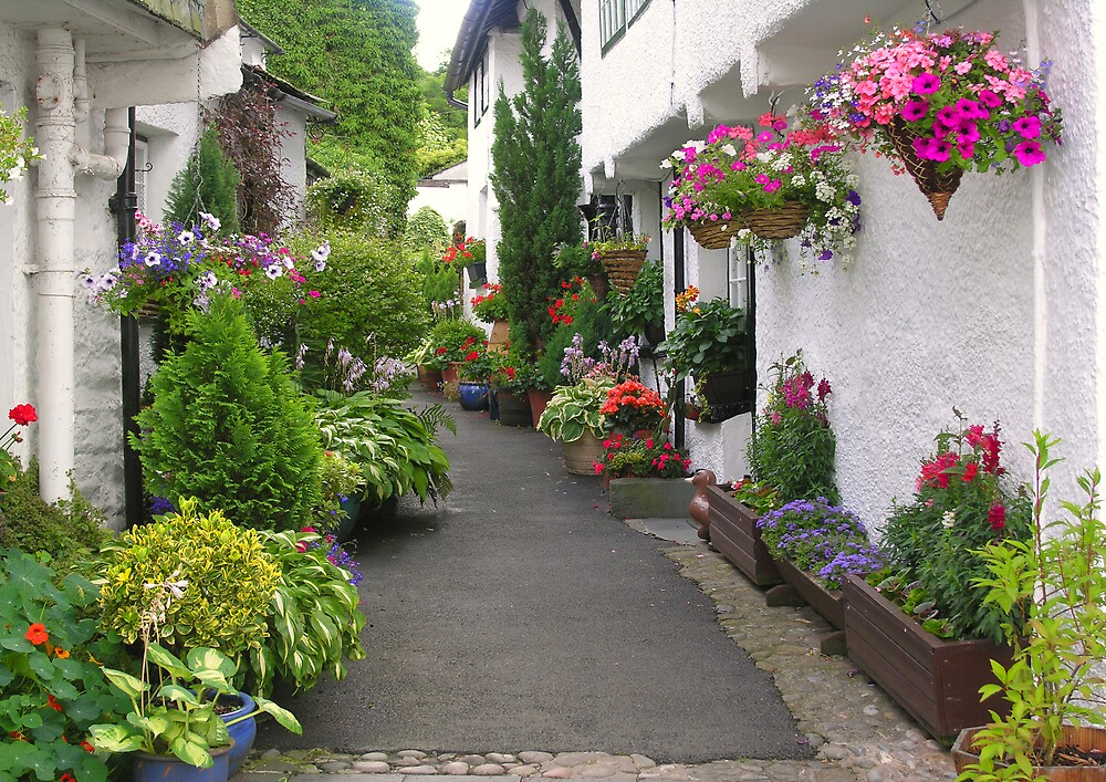Flag Street, Hawkshead, Cumbria, English Lake District by Philip Mitchell