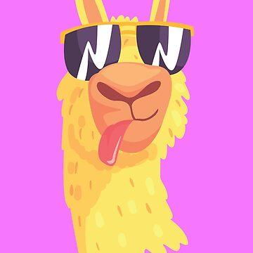 Cute Llama Hipster by printworxx