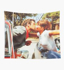 Romantic kiss — Pierrot Le Fou (1965) Wall Tapestry