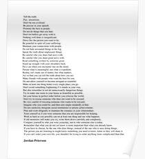 Jordan Peterson Zitate Poster