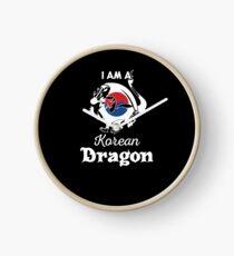 Dragon Korean Flag South Korea  Clock