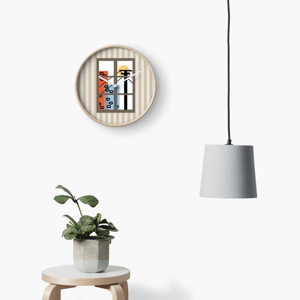 Wide Window Clock