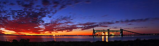 Kwinana Grain Jetty At Dusk  by EOS20