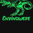 Enyingwere ( Dinosaur) Igbo inspired T-shirt  - Green by Learn Igbo Now