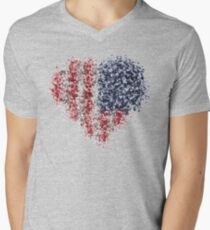American particle flag Men's V-Neck T-Shirt