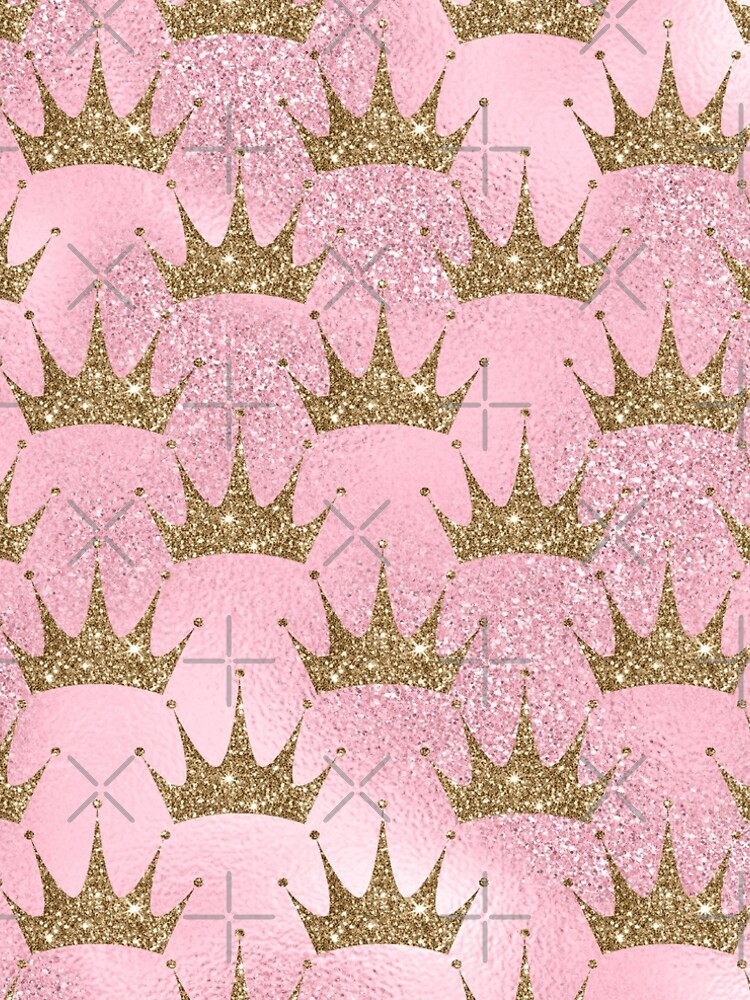 Mermaid Unicorn Pink Glitter Gold Crown Oriental by thespottydogg