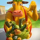 Heffer with G.I. Jimbo by Fernando Bresciano