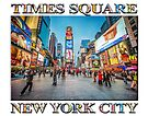 Times Square Sparkle (with typography) by Ray Warren