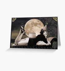Birthday Moon Greeting Card