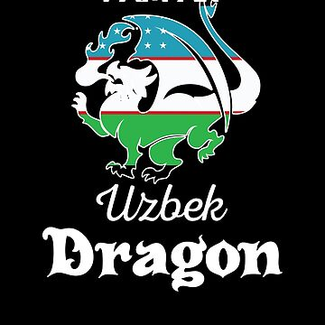 Dragon Uzbek Flag Uzbekistan  by countryflags