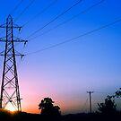 Sunset Pylon by heidiannemorris