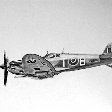 Spitfire aeroplane world war 2 by Croftsie