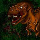 T-rex by Muxette