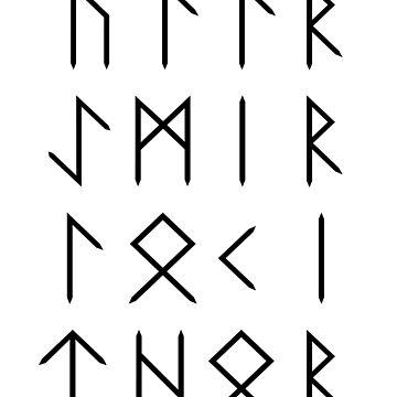 Norse God Runes - White by typelab