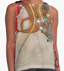 Art Nouveau Jugendstil girl with bare back Sleeveless Top