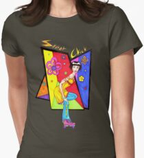 Skater Chick Women's Fitted T-Shirt