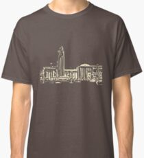 helsinki railway station building pattern  beige Classic T-Shirt