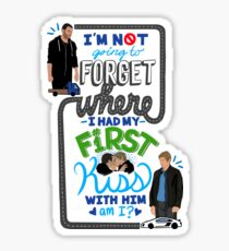 First Kiss Quote Sticker