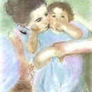 Mother and Child / after mary cassatt  by bev langby
