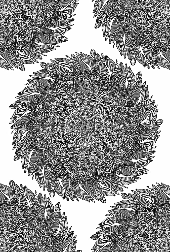 Mandala Leaf Universe Meditation  by BluedarkArt