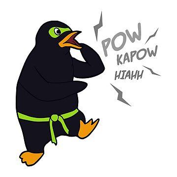 Ultra Ninja Penguin by amedeea